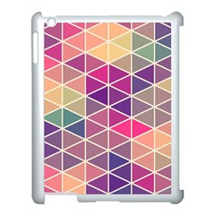 Chevron Colorful Apple Ipad 3/4 Case (white) by AnjaniArt