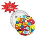Bear Umbrella 1.75  Buttons (10 pack)