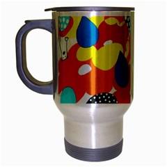 Bear Umbrella Travel Mug (Silver Gray)