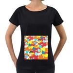 Bear Umbrella Women s Loose-Fit T-Shirt (Black)