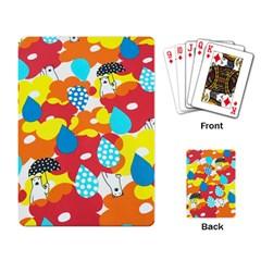 Bear Umbrella Playing Card