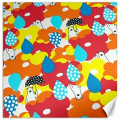 Bear Umbrella Canvas 16  x 16