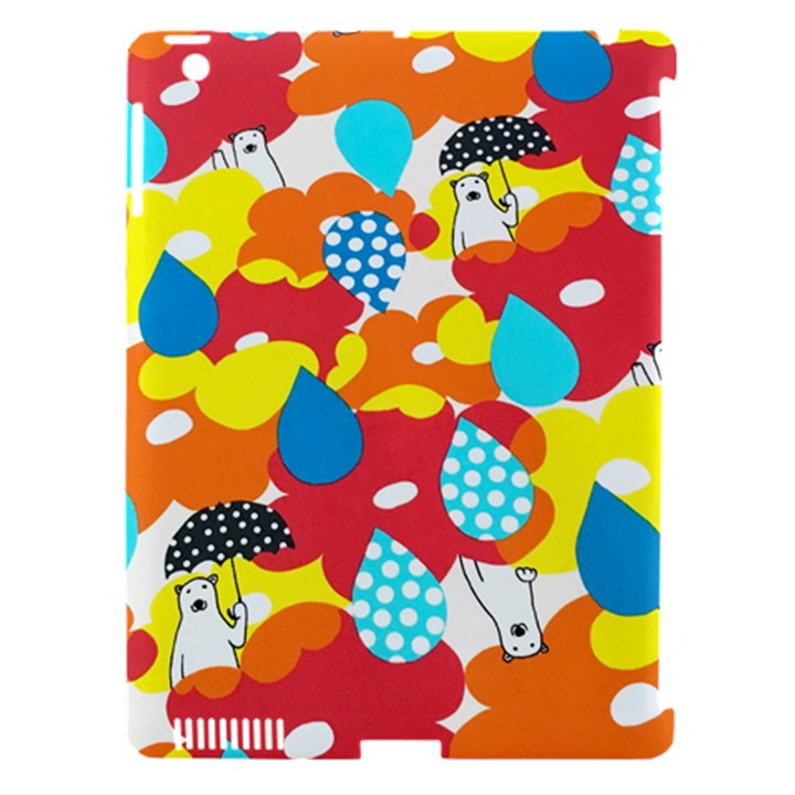 Bear Umbrella Apple iPad 3/4 Hardshell Case (Compatible with Smart Cover)