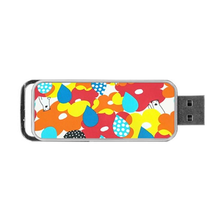 Bear Umbrella Portable USB Flash (One Side)