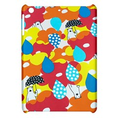 Bear Umbrella Apple Ipad Mini Hardshell Case by AnjaniArt