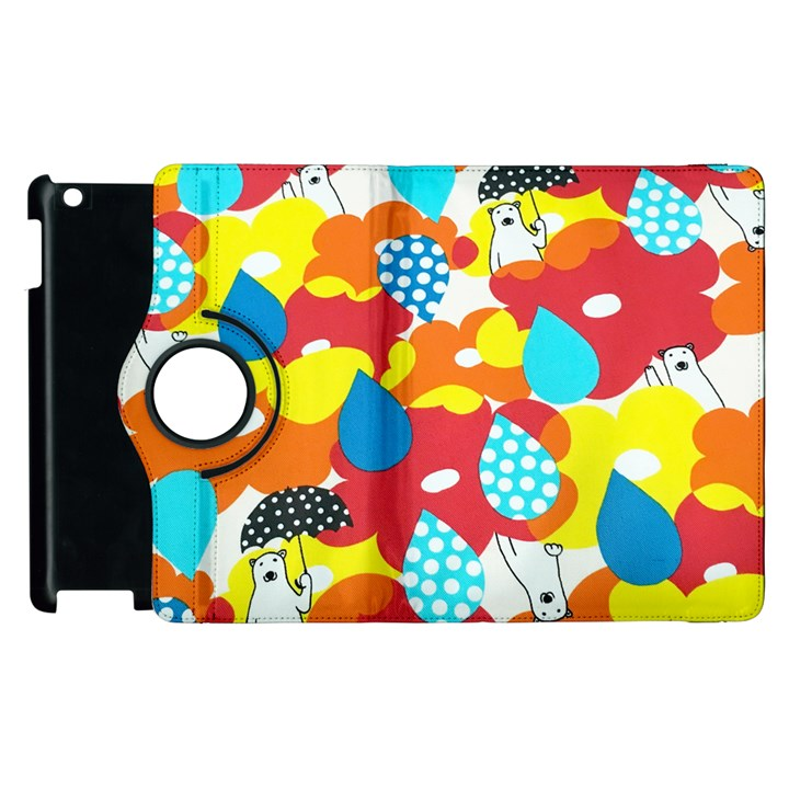 Bear Umbrella Apple iPad 3/4 Flip 360 Case