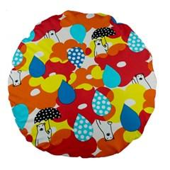 Bear Umbrella Large 18  Premium Round Cushions
