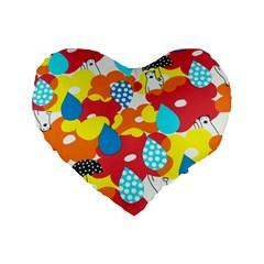 Bear Umbrella Standard 16  Premium Heart Shape Cushions