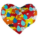 Bear Umbrella Large 19  Premium Heart Shape Cushions Front