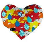 Bear Umbrella Large 19  Premium Heart Shape Cushions Back