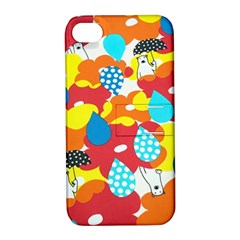 Bear Umbrella Apple Iphone 4/4s Hardshell Case With Stand