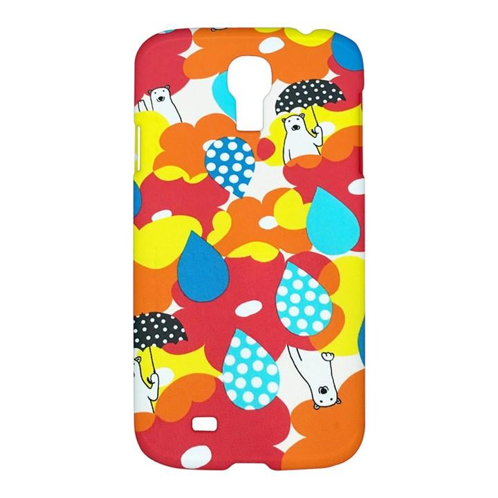 Bear Umbrella Samsung Galaxy S4 I9500/I9505 Hardshell Case