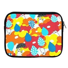 Bear Umbrella Apple Ipad 2/3/4 Zipper Cases