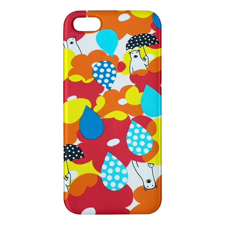 Bear Umbrella iPhone 5S/ SE Premium Hardshell Case