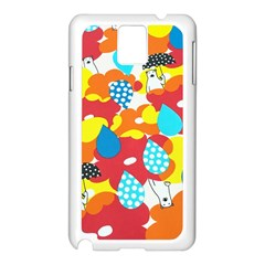 Bear Umbrella Samsung Galaxy Note 3 N9005 Case (white)