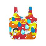 Bear Umbrella Full Print Recycle Bags (S)  Back