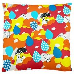 Bear Umbrella Standard Flano Cushion Case (one Side)