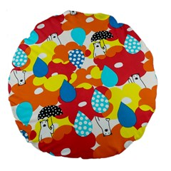 Bear Umbrella Large 18  Premium Flano Round Cushions