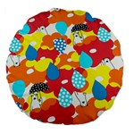 Bear Umbrella Large 18  Premium Flano Round Cushions Back