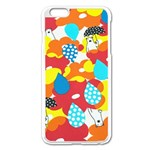 Bear Umbrella Apple iPhone 6 Plus/6S Plus Enamel White Case Front