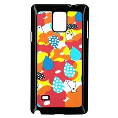 Bear Umbrella Samsung Galaxy Note 4 Case (black)