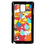 Bear Umbrella Samsung Galaxy Note 4 Case (Black) Front