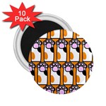 Cute Cat Hand Orange 2.25  Magnets (10 pack)  Front