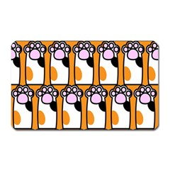 Cute Cat Hand Orange Magnet (rectangular)