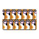 Cute Cat Hand Orange Magnet (Rectangular) Front
