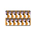 Cute Cat Hand Orange Magnet (Name Card) Front