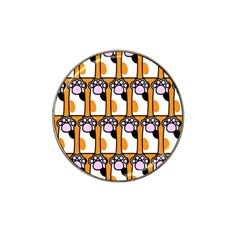 Cute Cat Hand Orange Hat Clip Ball Marker (10 Pack) by AnjaniArt