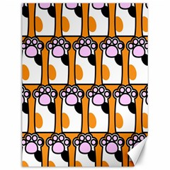 Cute Cat Hand Orange Canvas 12  x 16