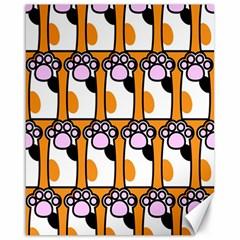Cute Cat Hand Orange Canvas 16  x 20