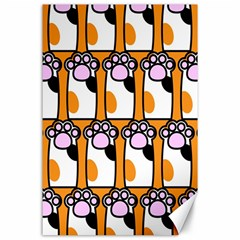 Cute Cat Hand Orange Canvas 24  X 36