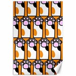 Cute Cat Hand Orange Canvas 24  x 36  36 x24 Canvas - 1
