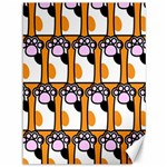 Cute Cat Hand Orange Canvas 36  x 48   48 x36 Canvas - 1
