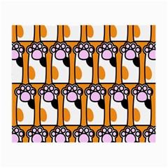 Cute Cat Hand Orange Small Glasses Cloth (2-Side)