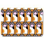 Cute Cat Hand Orange Large Doormat  30 x20 Door Mat - 1