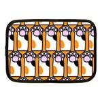 Cute Cat Hand Orange Netbook Case (Medium)  Front