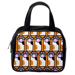 Cute Cat Hand Orange Classic Handbags (One Side) Front