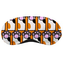 Cute Cat Hand Orange Sleeping Masks by AnjaniArt