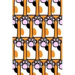 Cute Cat Hand Orange 5.5  x 8.5  Notebooks Back Cover