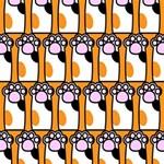 Cute Cat Hand Orange Magic Photo Cubes Side 5