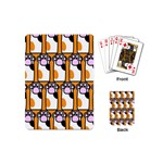 Cute Cat Hand Orange Playing Cards (Mini)  Back