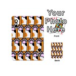 Cute Cat Hand Orange Playing Cards 54 (Mini)  Front - SpadeQ