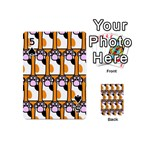 Cute Cat Hand Orange Playing Cards 54 (Mini)  Front - Spade5
