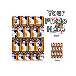 Cute Cat Hand Orange Playing Cards 54 (Mini)  Front - Joker1