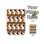 Cute Cat Hand Orange Playing Cards 54 (Mini)  Back