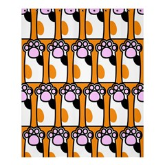 Cute Cat Hand Orange Shower Curtain 60  X 72  (medium)  by AnjaniArt