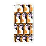 Cute Cat Hand Orange Apple iPhone 4 Case (White) Front